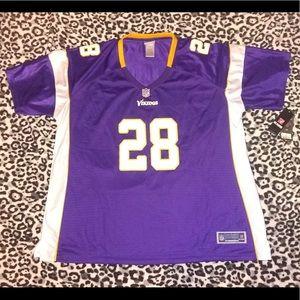 Minnesota Vikings #28 Peterson jersey, 3XL